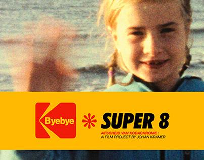 Bye Bye Super 8 film project branding