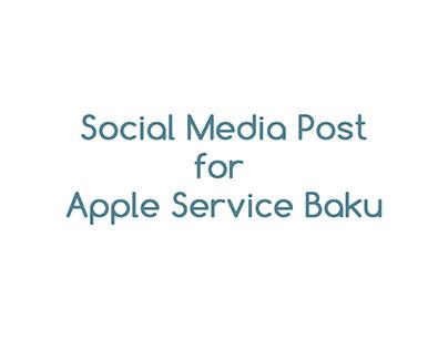 Apple Service Baku Social media poster