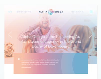 Alpha Omega - Website design, App design
