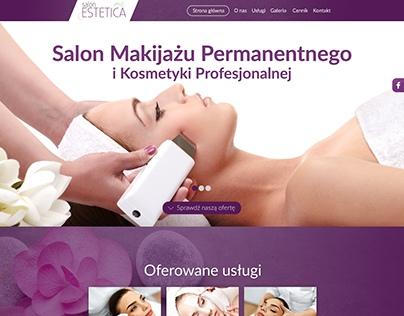 Projekt strony internetowej Salonu Estetica