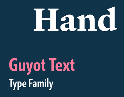 Guyot Text type family