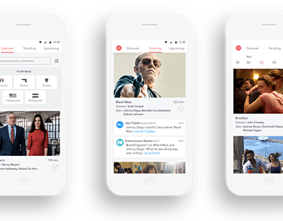 Mobile app - Flipboard for movies