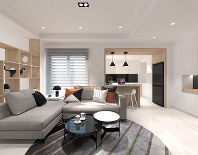日式簡約小公寓-3D規劃