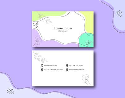 Floral Business Card Design