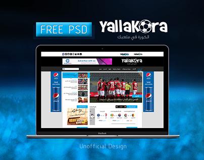 Yallakora - Free PSD