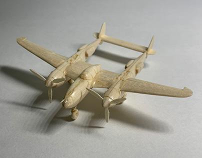 P-38 Lightning, woodcraft