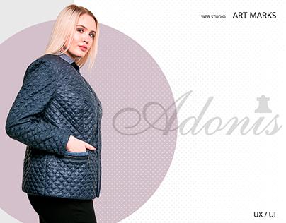 ADONIS-online store of Ukrainian women's clothing-UX/UI