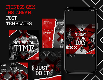 Fitness Sport Club Instagram Post Template