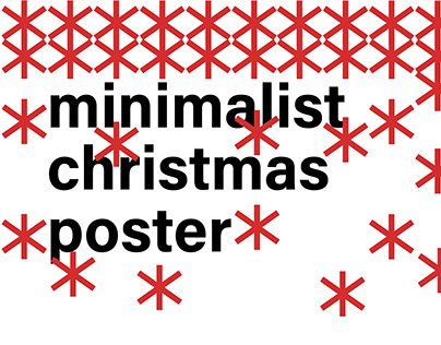 minimalist christmas poster
