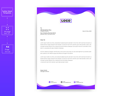 Simple Business Letterhead Templates