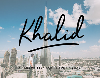 Khalid - Free Font Swash