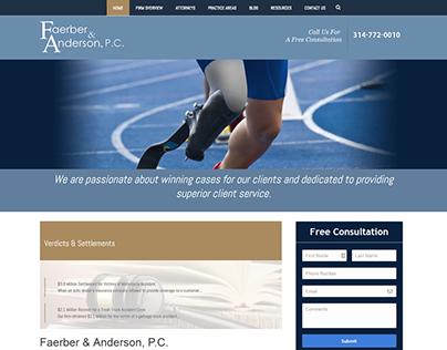 Faerber & Anderson Law Website Redesign