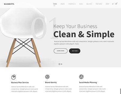 Kleanity Web Theme