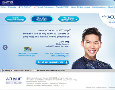 ACUVUE TruEye Campaign 2013