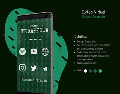 Cartão Interativo Podcast Terapeuta - Estudo
