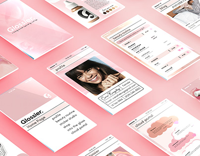 Glossier : App Design and Ad campaigns