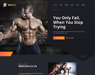 GymNex - Gym & Fitness WebSite