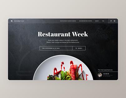 Restaurant Week - concept of a food festival website
