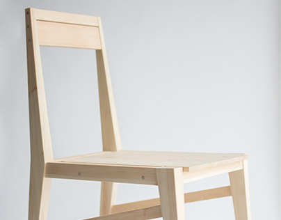 Wooden utility chair