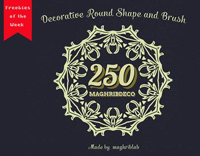 Free 250 Decorative Round Shape and Brush