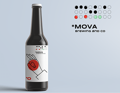 Mova Brewing. Logo and identity