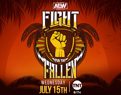 AEW Fight For The Fallen 2020 match card graphics