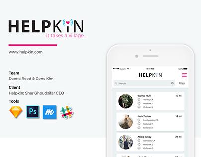 Helpkin - Mobile Babysitting App. UX | UI