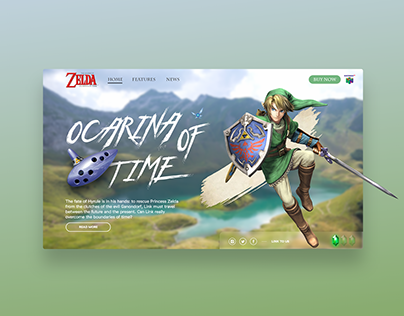 Zelda | Ocarina of Time - Landingpage