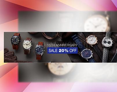 Website banner homepage slider designs fashion watches