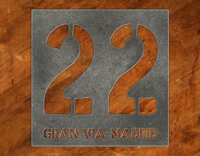 Imagen gráfica para coctelería 22 Gran Vía en Madrid