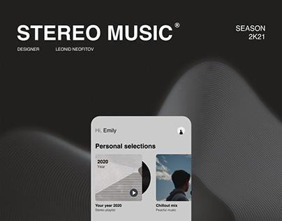 app — Stereo music.