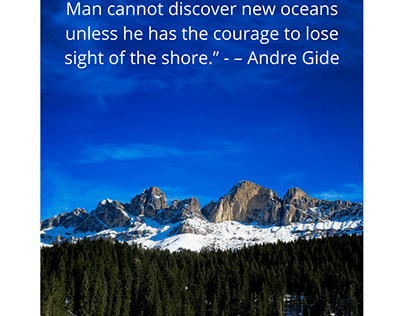 Man cannot discover new oceans