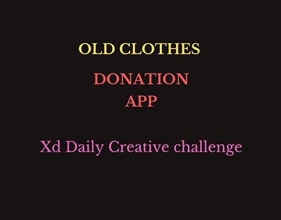 Old Clothes Donation App