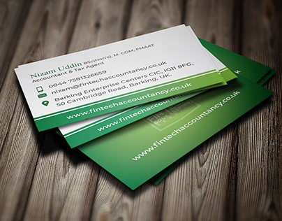 Business card design for Accountant