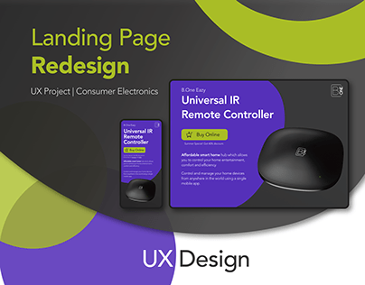 Landing Page Redesign - UX Project
