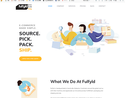 fulfyld - ECOMMERCE MADE SIMPLE Design by Dean Infotech