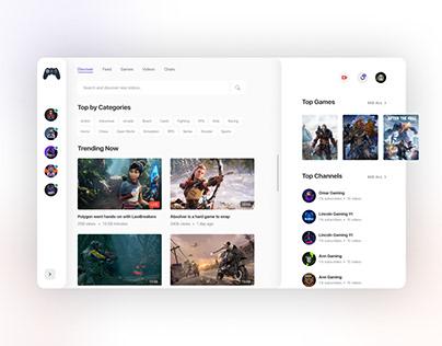 Glacier - Gamming web Application Store