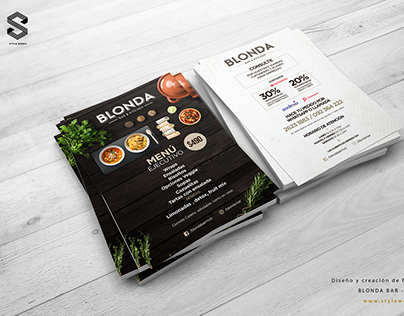 Blonda Bar - Flyer Print