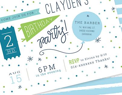 Kids' Birthday Invitation
