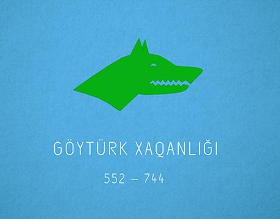 Tarixdəki Türk Dövlətlərinin Bayraqları