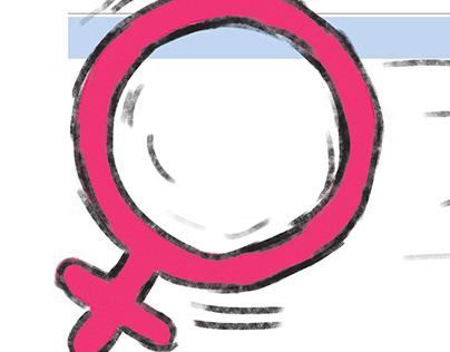 Ilustración violencia contra la mujer