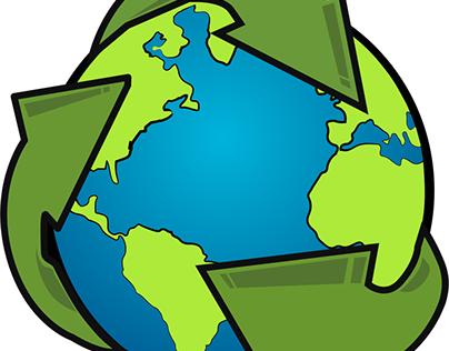 Mundo reciclaje vectores