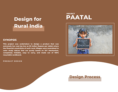Project Paatal - Design for Rural India