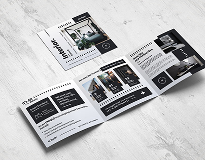 Square Trifold Interior Consult Brochure Template