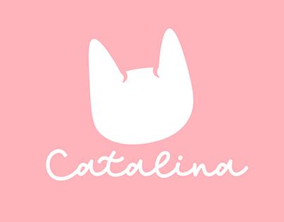 Logotipo y artes publicitarios para Catalina