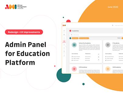 Admin Panel   AMI   UX/UI