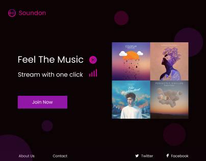 Streaming service website design