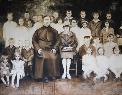 Paintings by family photos