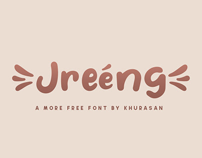 Jreeng free font for commercial use