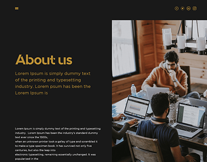 About us page Ui design
